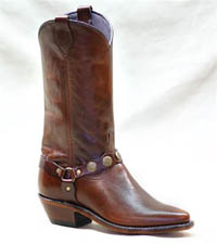Antique Brown Western Boot with Concho Bracelet Accent Lady Abilene Boot 9042